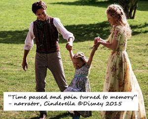 The narrator says this in reference to Cinderella's grief over the loss of her mother. Cinderella © Disney 2015