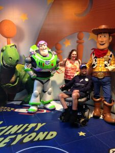 Buzz was one of Ben's heroes, but he loved Woody and friends, too!