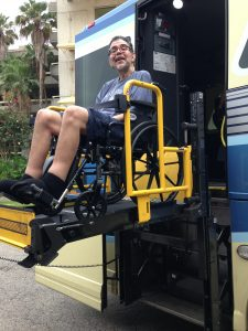 Ben even had fun on the Magic Express wheelchair lift!