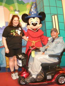 Mickey congratulated us on our engagement!
