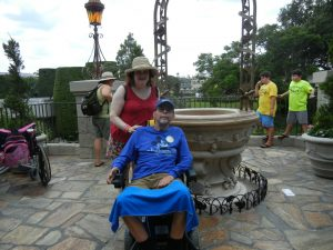 At the Walt Disney World Wishing Well at Cinderella's Castle